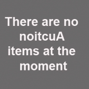 There are no noitcuA items at the moment